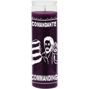 Commanding Purple Candle