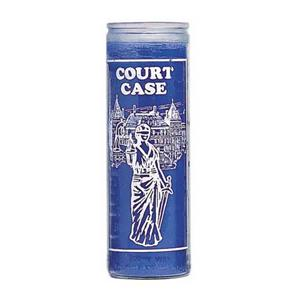 Court Case Blue Candle (Crusader)