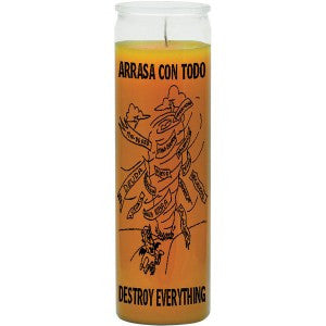 Destroy Everything Gold Candle