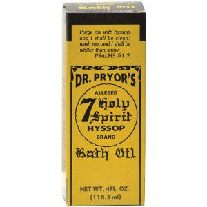 Dr. Pryor's 7 Holy Hyssop Bath Oil 4oz