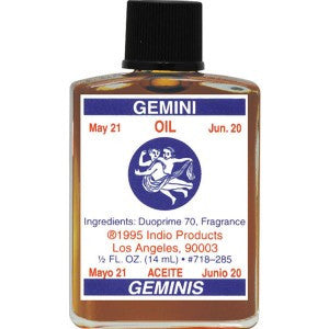 Indio Gemini Zodiac Oil - 0.5oz