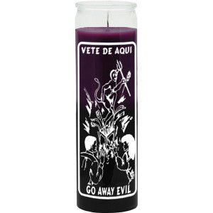 Go Away Evil- Purple/Black Candle