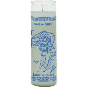 St Michael White Candle