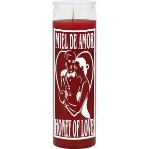 Honey of Love Red Candle