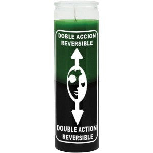 Reversible Green/Black Candle