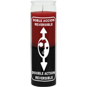 Reversible Red/Black Candle