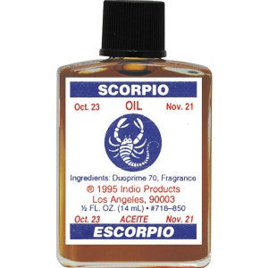 Indio Scorpio Zodiac Oil - 0.5oz