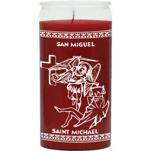 St Michael Red Candle - 1 Color 14 Day