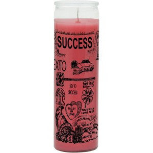 Success Pink Candle