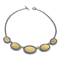 Floating Gold Oval Necklace