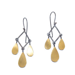 22k Chandelier Teardrop Earrings