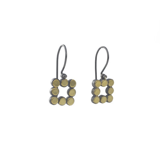 22k Square Dot Earrings