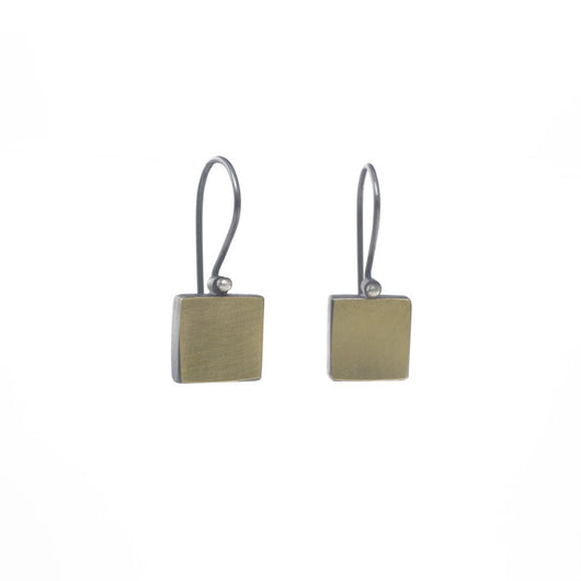 22k Square Earrings