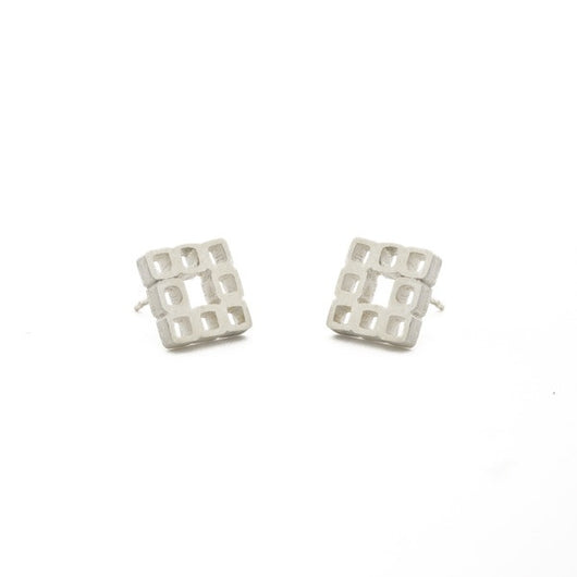 Tiny Squares Post Earrings