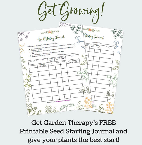 Garden Therapy's Seed Starting Journal