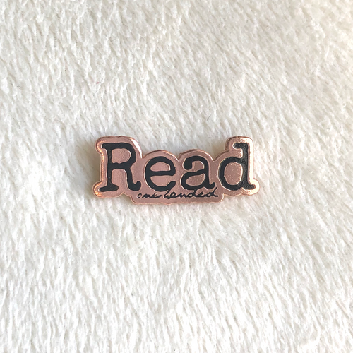 Read One-Handed Enamel Pin