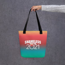 Load image into Gallery viewer, Shameless Book Con 2021 All-Over Print Tote Bag