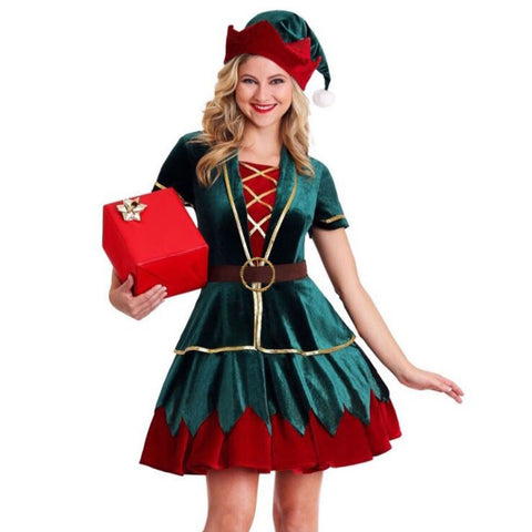 Deluxe Christmas Elf Costume