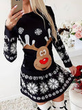 Christmas Santa Claus Long Sleeve Dress