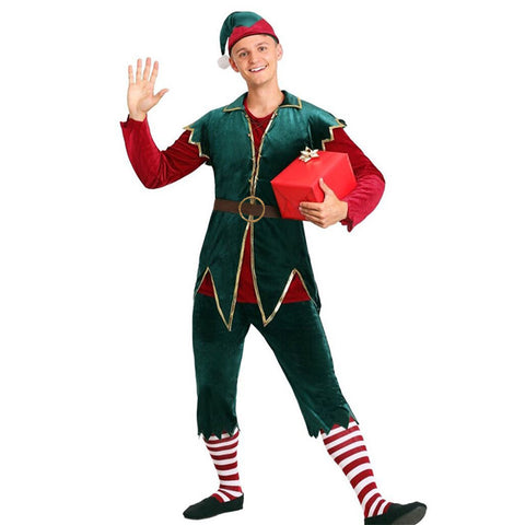 Deluxe Men's Christmas Elf Costume