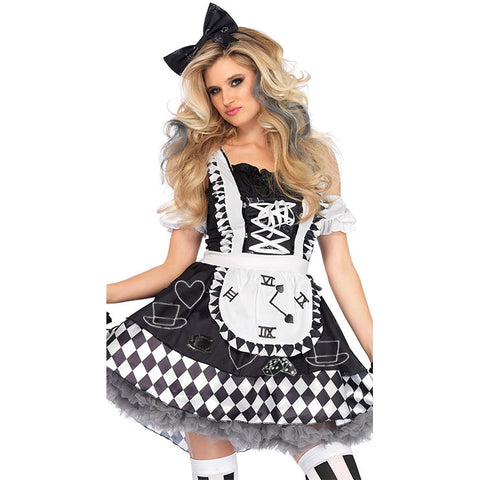 Black and white Alice in Wonderland