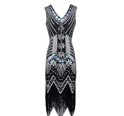 Gatsby style beaded dress