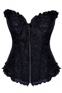 Black Zip Damask Corset