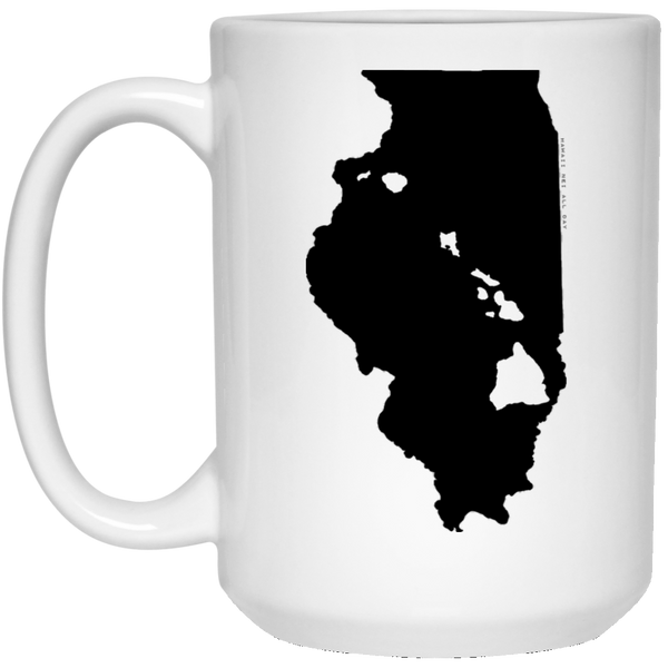 Illinois and Hawaii Roots White Mug, Apparel, Hawaii Nei All Day