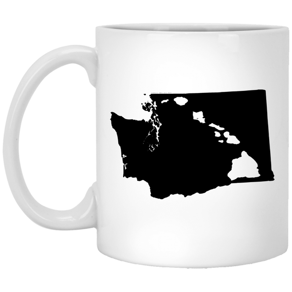 Washington and Hawaii Roots White Mug, Apparel, Hawaii Nei All Day