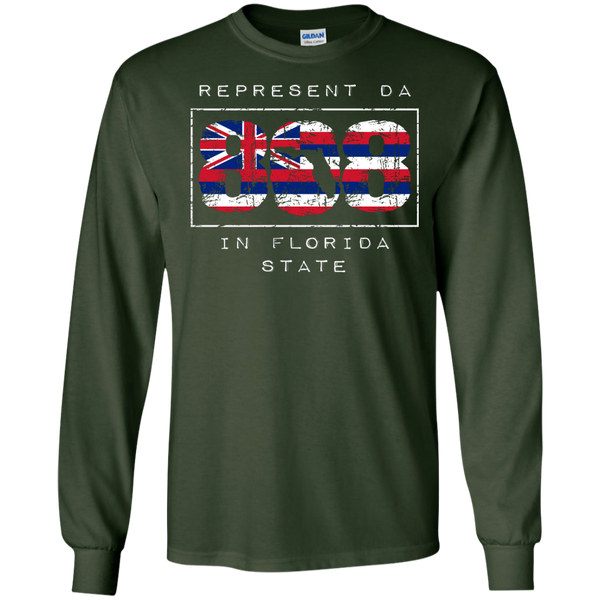 Represent Da 808 In Florida State LS Ultra Cotton Tshirt, Long Sleeve, Hawaii Nei All Day, Hawaii Clothing Brands