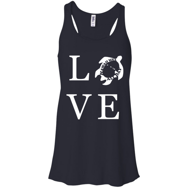 Honu LOVE (white) Racerback Tank, T-Shirts, Hawaii Nei All Day
