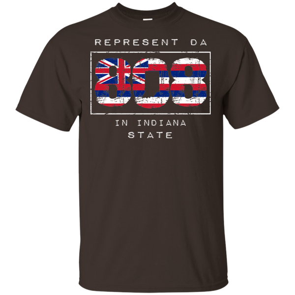 Rep Da 808 In Indiana State Ultra Cotton T-Shirt, T-Shirts, Hawaii Nei All Day