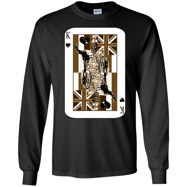 The King of Hawai'i LS Ultra Cotton Tshirt, Long Sleeve, Hawaii Nei All Day