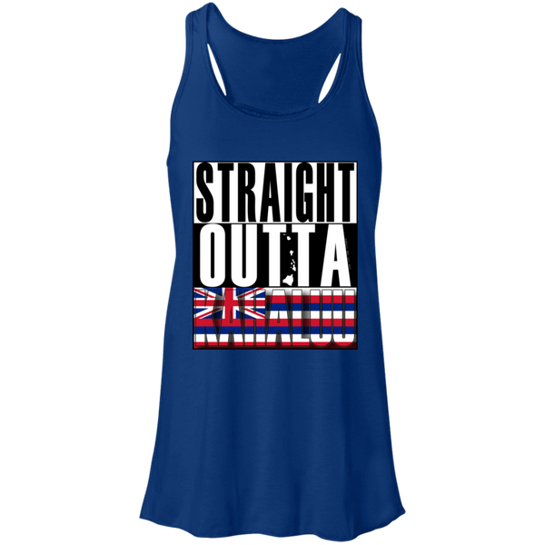 Straight Outta Kahaluu Hawai'i Racerback Tank, T-Shirts, Hawaii Nei All Day