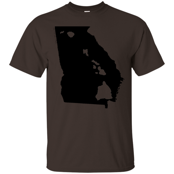 Living in Georgia with Hawaii Roots Ultra Cotton T-Shirt, T-Shirts, Hawaii Nei All Day, Hawaii Clothing Brands