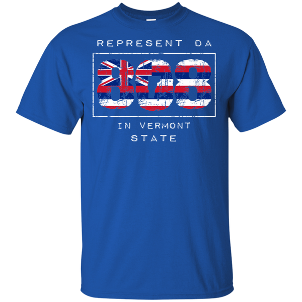 Rep Da 808 In Vermont State Ultra Cotton T-Shirt, T-Shirts, Hawaii Nei All Day