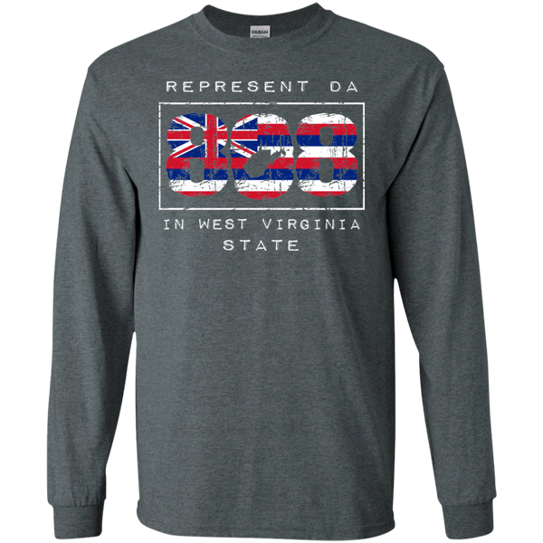 Rep Da 808 In West Virginia State LS Ultra Cotton T-Shirt, T-Shirts, Hawaii Nei All Day