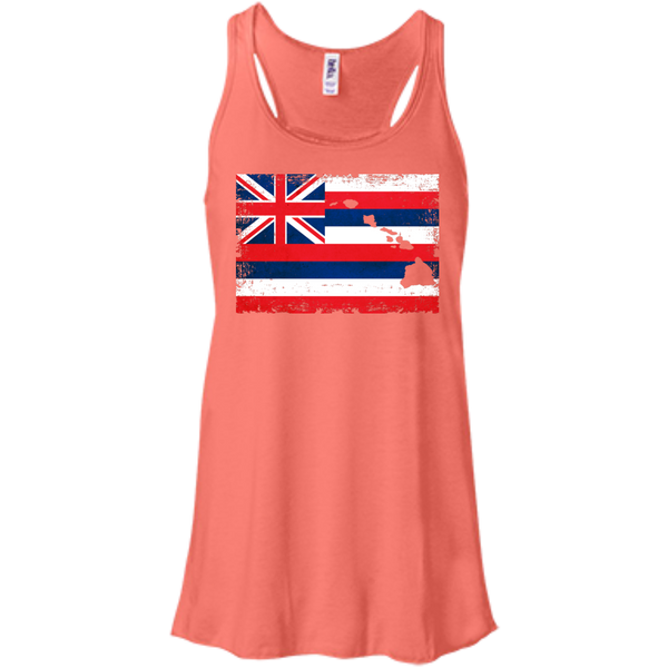 Hawaii State Bella+Canvas Flowy Racerback Tank, , Hawaii Nei All Day