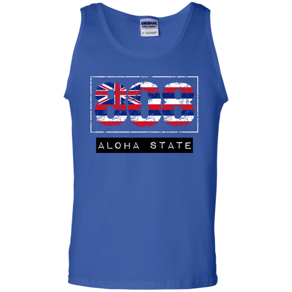 808 Aloha State 100% Cotton Tank Top - Hawaii Nei All Day