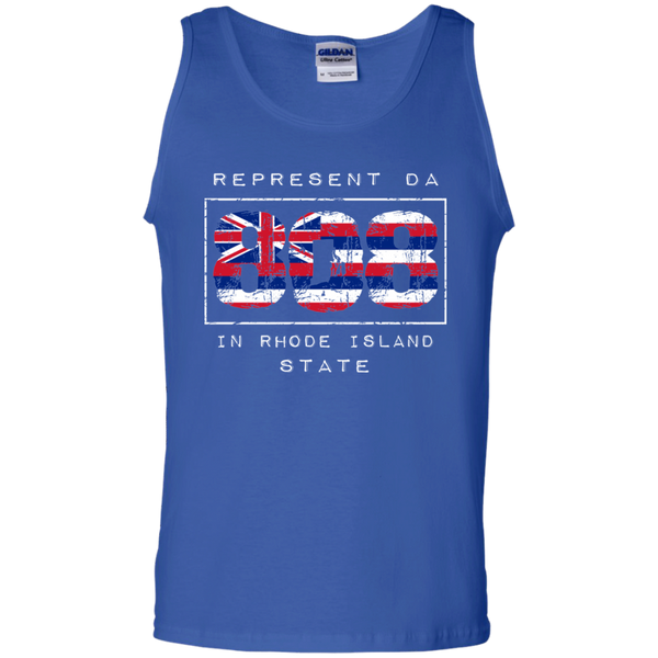 Rep Da 808 In Rhode Island State 100% Cotton Tank Top, T-Shirts, Hawaii Nei All Day
