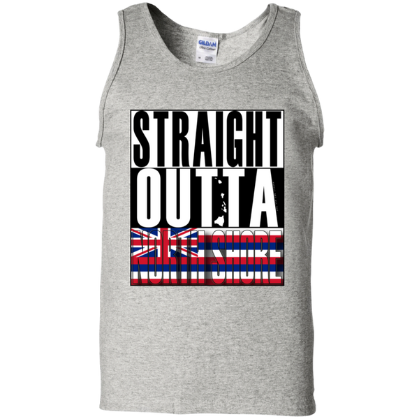Straight Outta North Shore 100% Cotton Tank Top, T-Shirts, Hawaii Nei All Day