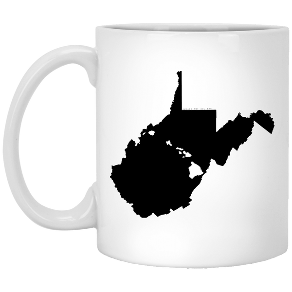 West Virginia and Hawaii Roots White Mug, Apparel, Hawaii Nei All Day