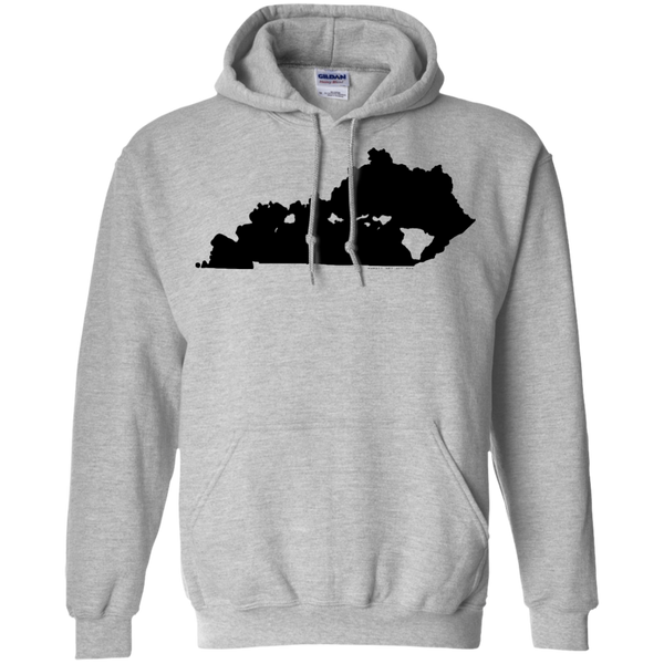 Living in Kentucky with Hawaii Roots Pullover Hoodie 8 oz., Sweatshirts, Hawaii Nei All Day