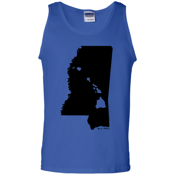 Living in Mississippi with Hawaii Roots 100% Cotton Tank Top, T-Shirts, Hawaii Nei All Day