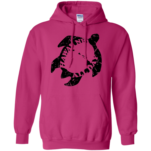 Honu Hawaiian Islands Distressed (black ink) Pullover Hoodie, Sweatshirts, Hawaii Nei All Day