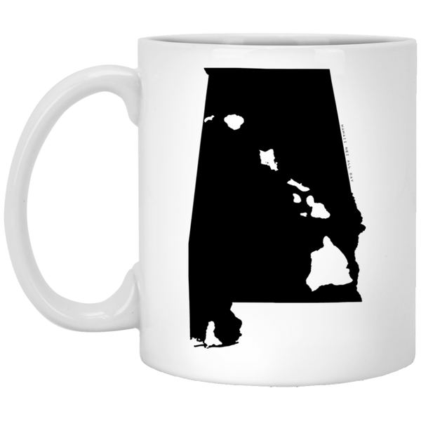Alabama and Hawaii Roots White Mug