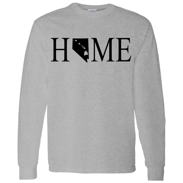 Home Hawaii & Nevada LS T-Shirt 5.3 oz., T-Shirts, Hawaii Nei All Day, Hawaii Clothing Brands