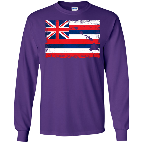Hawaii State LS Ultra Cotton Tshirt, Long Sleeve, Hawaii Nei All Day, Hawaii Clothing Brands