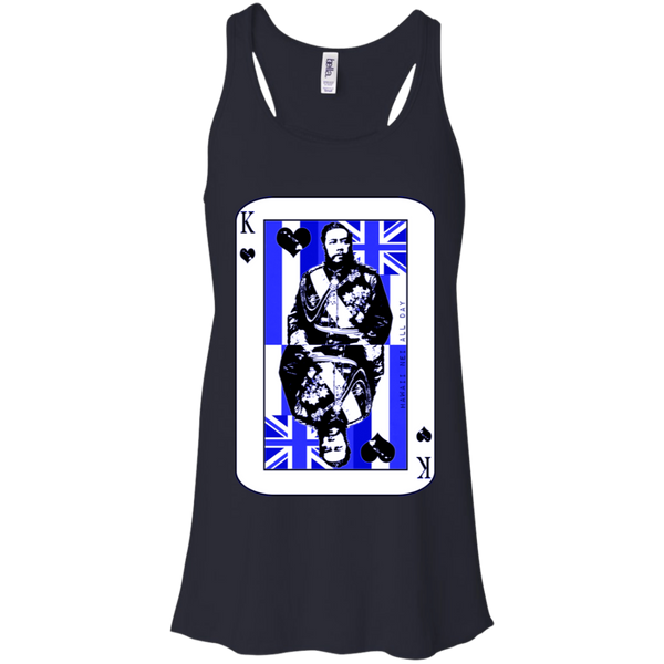 The King of Hawai'i Kalakaua(blue ink) Racerback Tank