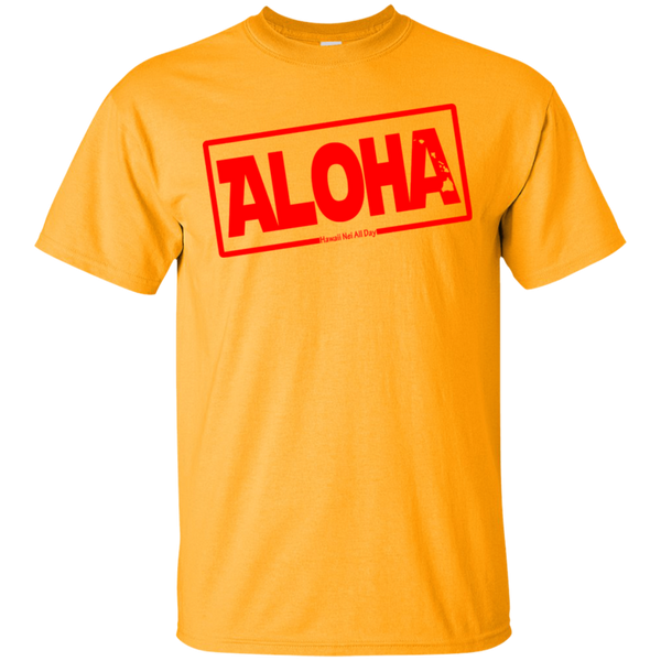 Aloha Hawai'i Nei (Islands red ink) Ultra Cotton T-Shirt, T-Shirts, Hawaii Nei All Day
